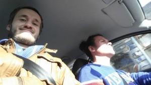Piotr Sikora i Paweł Najgebauer w drodze do Wiednia na warsztaty z TJ&Dave
